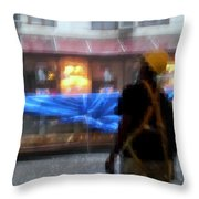Taking Shelter From The Rain Throw Pillow