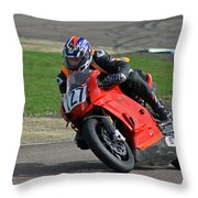 Taking The Bend Throw Pillow