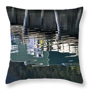 Taku Smokeries Reflected Throw Pillow