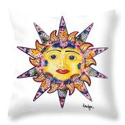 Talavera Sun Throw Pillow