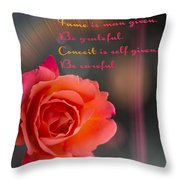 Talent Fame And Conceit Throw Pillow