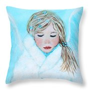 Talini Little Snow Angel Bringing Warmth On Cold Days Throw Pillow