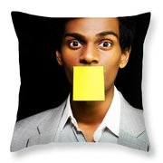 Talkative Forgetful Office Worker Throw Pillow