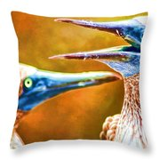 Talking Birds Throw Pillow