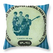 Talking Heads '79 Throw Pillow