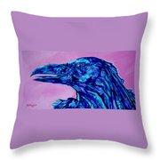Talking Raven Throw Pillow