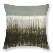 Tall Grass On Lough Eske - Donegal Ireland Throw Pillow