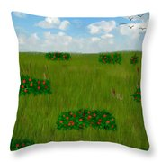 Tall Grass Prairie National Reserve Throw Pillow