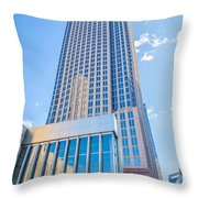 Tall Highrise Buildings In Uptown Charlotte Near Blumental Perfo Throw Pillow