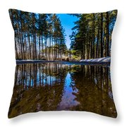 Tall Pines Throw Pillow