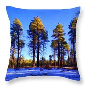 Tall Ponderosa Pine Throw Pillow