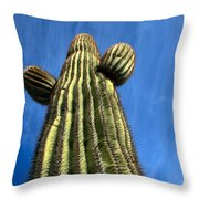 Tall Saguaro Cactus Throw Pillow