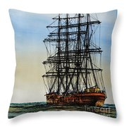 Tall Ship Beauty Throw Pillow