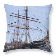 Tall Ship Elissa - Galveston Texas Throw Pillow