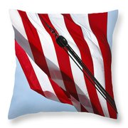 Tall Ship Flag Throw Pillow