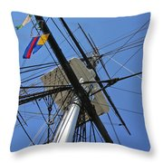 Tall Ship II Throw Pillow