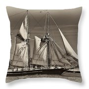 Tall Ship II Throw Pillow