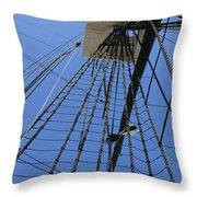 Tall Ship IIi Throw Pillow