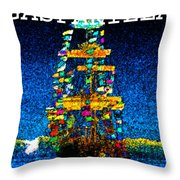 Tall Ship Jose Gasparilla Throw Pillow