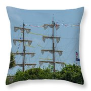 Tall Ship Mast Charleston  Throw Pillow