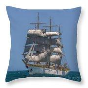 Tall Ship Mircea Throw Pillow
