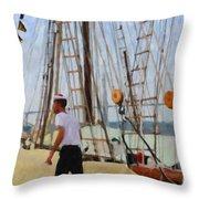 Tall Ship Sailor Duty Throw Pillow