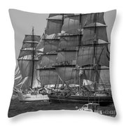 Tall Ship Stad Amsterdam Throw Pillow