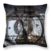 Tall Ship With Compass 2013 Throw Pillow