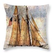 Tall Ships Art Throw Pillow