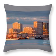 Tall Ships At The Seaport Throw Pillow
