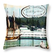 Tall Ships On The Sound Throw Pillow
