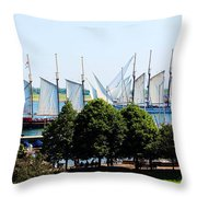 Tall Ships Passing Throw Pillow