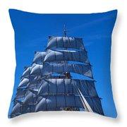 Tall Ships Race In The Ocean, Baie De Throw Pillow