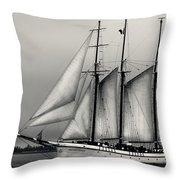 Tall Ships Sailing Boat Throw Pillow
