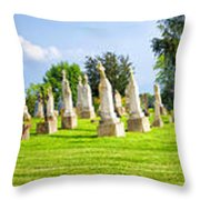 Tall Tombstones Panorama Throw Pillow by Thomas Woolworth