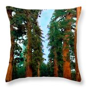 Tall Trees In Yosemite National Park Throw Pillow