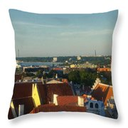 Tallinn Old Town 3 Throw Pillow