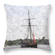 Tallship Providence Prwc Throw Pillow