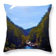 Tallulah Gorge In October Throw Pillow