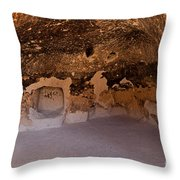 Talus Housefront Room Bandelier National Monument Throw Pillow