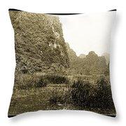 Tam Coc No2 Throw Pillow
