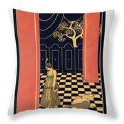 Tamara Karsavina Throw Pillow by Georges Barbier