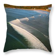 Tamarin Bay Surf Going Off Throw Pillow