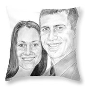 Tamir And Sarah Throw Pillow