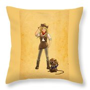 Tammy And Alfred Throw Pillow