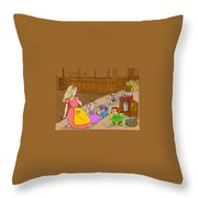 Tammy And Her Playmates Throw Pillow