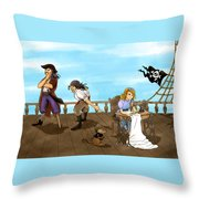 Tammy And The Pirates Throw Pillow