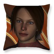 Tammy In A Red Dress Throw Pillow