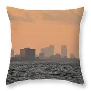 Tampa At Sunrise Throw Pillow