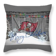 Tampa Bay Buccaners Throw Pillow